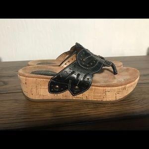Clarks Artisan thong wedge sandal 6